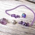 Amethyst Gemstone Divination Pendulum, Dowsing, Scrying Tool