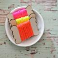 Silky Cord {5m} Neon Orange Twine on a Wood Spool | Gift Wrap under 5