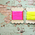 Silky Cord {5m} Neon Pink Twine on a Wood Spool | Gift Wrap under 5
