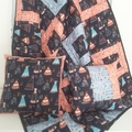 Large Baby quilt, Toddler quilt a two cushion covers, Cot quilt set, Nursery set