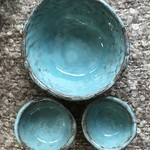 Ceramic Bowls (x3) - Rustic pinch pots | stoneware clay | pottery