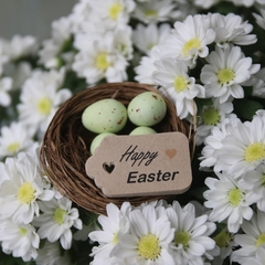 24 Happy Easter Tags ~ Easter Favour Tags ~ Gift Tags for Easter Treat Bags