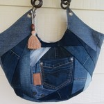 Recycled Denim Extra Large Tote