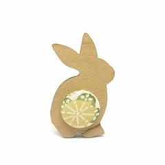Kimono Bunny Brooch - Lemon Blossom