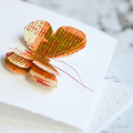 Orange Butterfly Card | 3D Butterfly Card | Calligraphy Butterfly Card