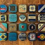 Vintage typewriter ribbon tins - for packaging typewriter key cufflink sets