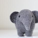 Crochet Elephant, Handmade doll, Amigurumi, Stuffed Animal