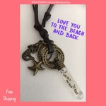 LOVE YOU TO THE BEACH AND BACK - adjustable necklace