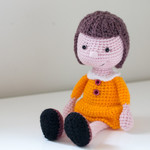 Crochet doll, handmade, amigurumi doll, girl doll, gift idea, stuffed toy