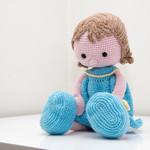 Crochet doll, Girl doll, Handmade, Amigurumi Toy, Soft toy, Girl in Blue Dress