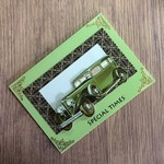 3D 'Classic Vintage Limousine' on Green Birthday Card