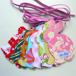 Bunny Garland, Baby Shower, pink tape, double sided fabric