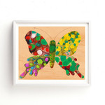 Nursery Art Boho, Green Butterfly, Gender Neutral Nursery, Printable Wall Art