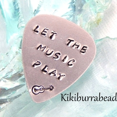 Hand Stamped Guitar Pick,Plectrum,Gift For Dad,Husband,Grandpa,Brother or Uncle