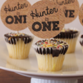Rustic Natural Hessian Look Handmade Cupcake Topper Set of 12 Lolly Bar Cake Tab