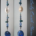 Cowrie Shell, Paua & Ocean toned Lucky Earth Charm Sun Catcher