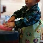 Child's apron - Monkey print