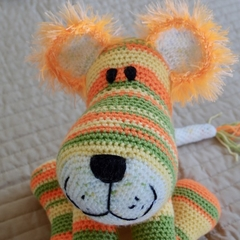 Conrad: toy crochet Lion cub by CuddleCorner: OOAK, Unisex