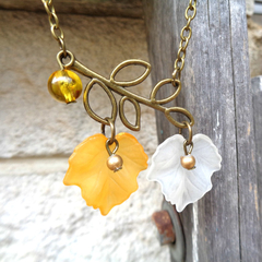 Autumn Leaf and Branch Necklace