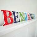 Name Plaque for Wall or Door.  9cm. 8 Letters
