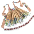 Pinafore dress in Kittens and Roses