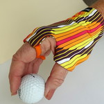 Glove: sun glove, right hand, sunprotection, fingerless suitable for golf