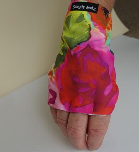 Glove: sun glove, right hand, sunprotection, fingerless suitable for golf