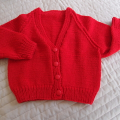 SIZE 2-3 yrs Hand knitted cardigan : Acrylic, Unisex,  machine washable