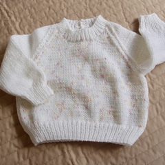 Size 6-12 months hand knitted jumper; girl, washable,