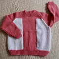 SIZE 3-4 - Hand knitted jumper by CuddleCorner: machine washable, unisex