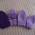 SIZE 3-4 yrs - cardigan, Purple & White: acrylic, washable, warm