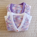 3-9mths - Hand knitted jump : Girl, machine washable, OOAK