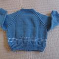 SIZE 2-3 yrs Hand knitted cardigan : Acrylic, Unisex, machine washable