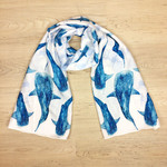 Whale Shark Scarf, soft silky whale shark gift scarf hand crafted