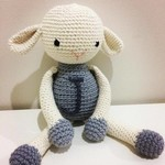 Personalised crochet sheep made to order