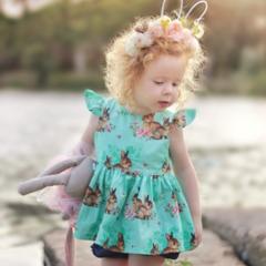 Rabbit Easter  peplum top girls toddler