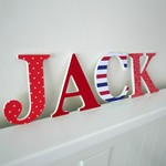 Name Plaque for Wall or Door.  9cm. 4 Letters.