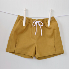 Mustard Shorts, unisex baby and toddlers. baby gift,