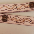 OOAK Bead Embroidered Women's Belt Mostly Bronze