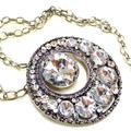 Upcycled Crystal Rhinestone Necklace,  Wedding Necklace