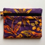 Purple/Gold Batik Purse