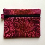 Purple Batik Purse