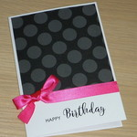Happy Birthday card - black and pink