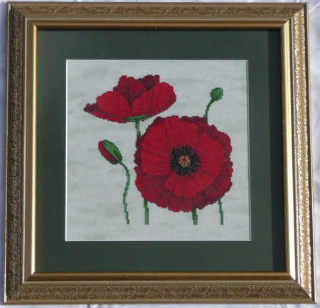 Poppies Counted Cross Stitch Pattern
