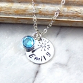 Fairy Wand Necklace,Girls Custom Name Necklace,Birthstone Necklace,Daughter Gift