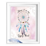 Gypsy Soul Dreamcatcher Quote Printable