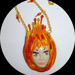"""Fire"" necklace"