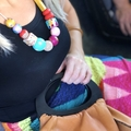 """The Red Essy """"FURNEAUX"""" hand-painted wooden necklace"""