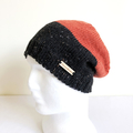 Two Colour Knit Wool Beanie