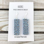 Handcrafted mosaic polymer clay earrings sterling silver hooks
